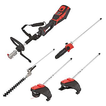 Garden 5in1 Multi Tool Hedge Trimmer Brush Cutter Chainsaw with Battery/Charger