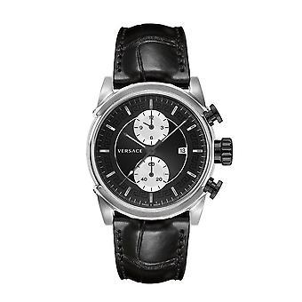 فيرساتشي ساعة اليد للرجال كرونو الحضرية كوارتز كرونوغراف تاريخ VEV400119