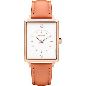 Montre Amalys POPPY - Montre Cuir Orange Femme