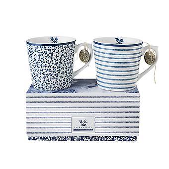 Laura Ashley Mini Mug Set, Candy Stripe & Floris
