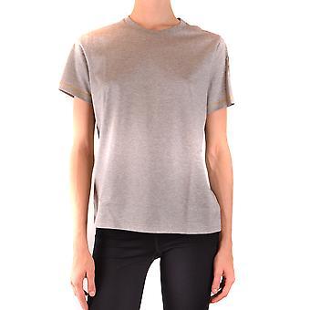 Moncler Ezbc014098 Women's Grey Cotton T-shirt