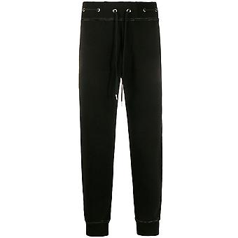 Versace Jeans Couture Gold Ring Eyelet Joggers