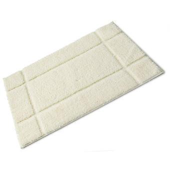 Orla Cream Full Rubber Backed Microfibre Single Bath Mat 50cm x 80cm