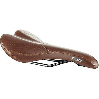 Madison Saddle - Flux Men's Saddle, Cro-mo Rails, Brown