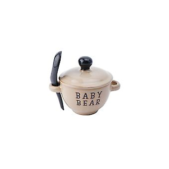 CGB Giftware Loft Baby Bear Porridge Bowl and Spoon