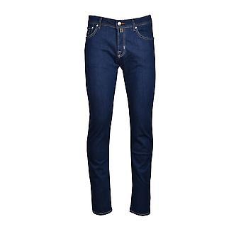 Jacob Cohen J622 maßgeschneiderte Fit Jeans Denim/tan