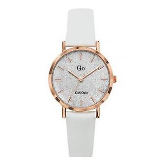 Go Girl Only 699901 watch - Bracelet leather white steel Dor Rose dial clat crystalline woman case