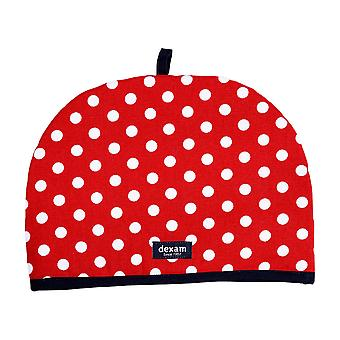 Dexam Polka 6 Cup Tea Cosy, Red