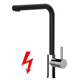 Niederdruck Kitchen Single-lever Sink Mixer With Black Quartz High Swivel Spout - 241