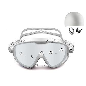 Swimming goggles with swimming cap, nose clip and earplugs
