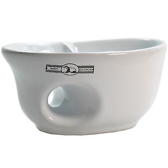 Gold roof Rasiermug white ceramic oval pockets for good handling