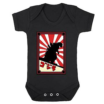 Reality glitch japanese monster kids babygrow
