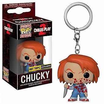Child's Play Chucky Blood Splattered US Pocket Pop! Keychain
