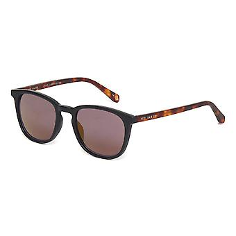 Ted Baker Riggs TB1536 001 Black/Grey Gold Mirror Sunglasses