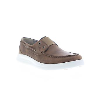 Tommy Bahama Aeonian  Mens Brown Leather Casual Strap Boat Shoes