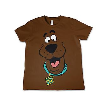 Scooby Doo T Shirt Character Face All Over Official Kids New Brown Size 3-12yrs