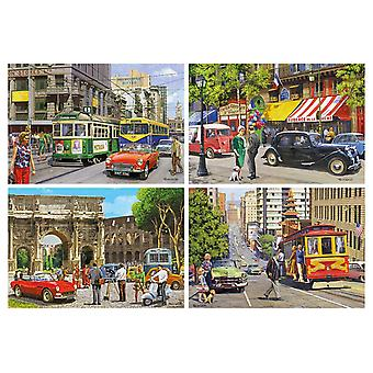 Gibsons Cities of the World Jigsaw Puzzle (4 x 500 Pieces)