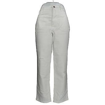 Denim & Co. Women's Plus Classic Denim Jeans White A304475 #0