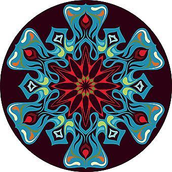 Round Area Rugs Crystal Velvet Ethnic Style Rug Floor Carpet for Bedroom Living Room