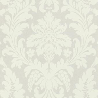 Vanity Fair Damask Wallpaper Marfil/Crema Rasch 525410