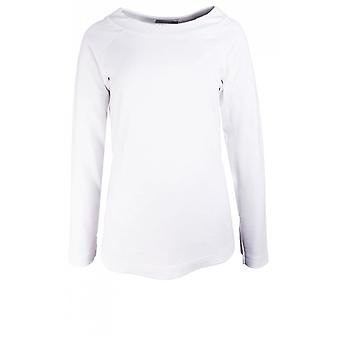 Bianca White Jersey Top