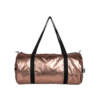 Loqi Women's Metallic Matte Rose- Omkeerbare Weekender Bag