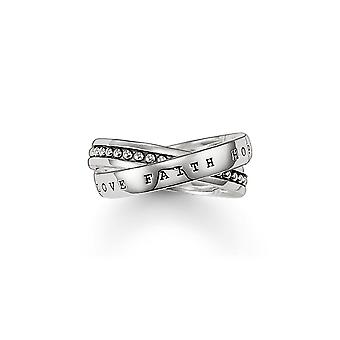 Thomas Sabo Engraved Crossover Ring