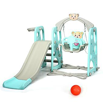 4 in 1 Kids Toddler Climber Slide Play Swing Set Indoor/Outdoor Playground