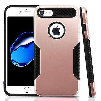 Asmyna Hybrid Protector Case for Apple iPhone 8/7 - Rose Gold/Black