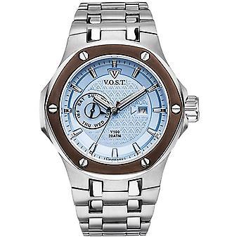 V.O.S.T. Germany V100.022 Blue Multifunction Men's Watch 44mm