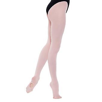 Seidige Damen/Damen voller Fuß Tanz Ballett Strumpfhosen (1 Paar)