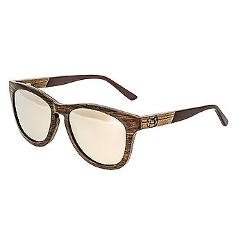 Earth Wood Cove Polarized Sunglasses - Zebra Rosewood/Rose Gold