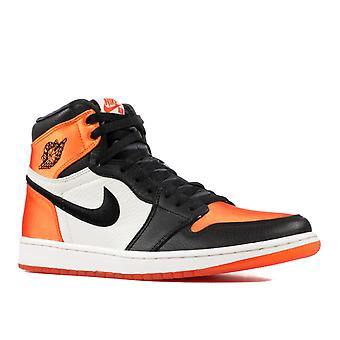 Air Jordan 1 re Hi og SL ' cetim Shattered Backboard ' Womens-Av3725-010-calçados