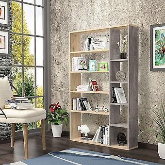 Nova Color Oak Bookshelf, Dark Grey in Melaminic Chip 98.6x22x150 cm
