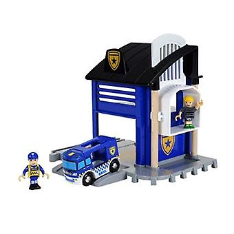 BRIO Police Station Light and Sound 33813 for Wooden Railway layout