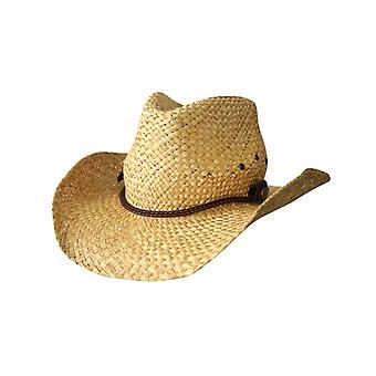 Jacaru 1818k straw cowboy hat w thin plaited