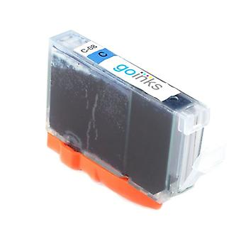 1 syaani mustekasetti Canon CLI-8C -yhteensopivan/ei-OEM-laitevalmistajan korvaamiseksi Go Inksistä