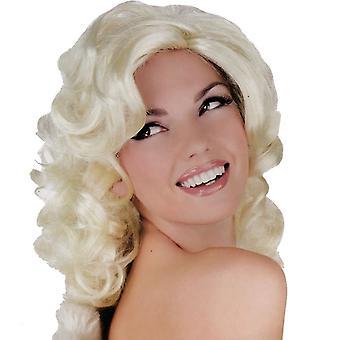 Blondi pommi peruukki naisille