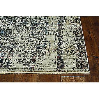 2' x 8' שטיח רץ מדליון אפור