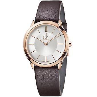 Calvin Klein K3M226G6 Minimal Quartz Silver Dial Ladies Watch