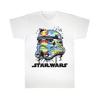 Star Wars Stormtrooper Bright Camo Helmet Girls T-Shirt | Marchandises officielles