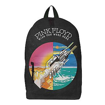 Pink Floyd Backpack Bag Wish You Were Here Band Logo new Official Rocksax Black