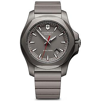 Victorinox Stainless Stainless Watch for Analog Man Quartz With Rubber Bracelet V241757