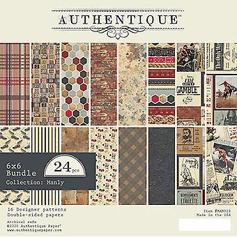 Authentique مانلي 6x6 بوصة ورقة وسادة
