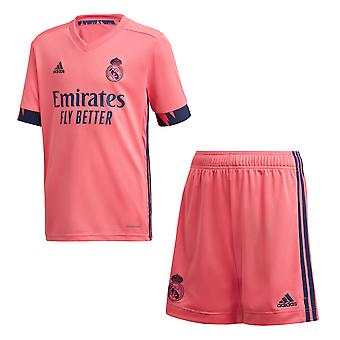 adidas Real Madrid 2020/21 Kids Football Away Kit Set Pink