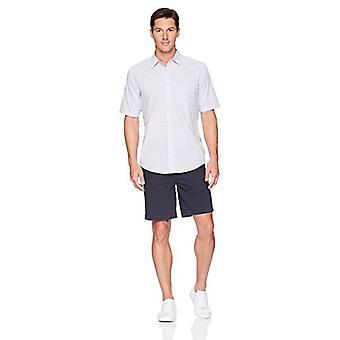 Essentials Men's Regular-Fit Short-Sleeve Casual Poplin Shirt, lavende...