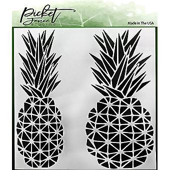 Picket Fence Studios Geo Pineapple Stencil