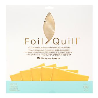We R Memory Keepers Foil Sheets 12x12 Inch Gold Finch