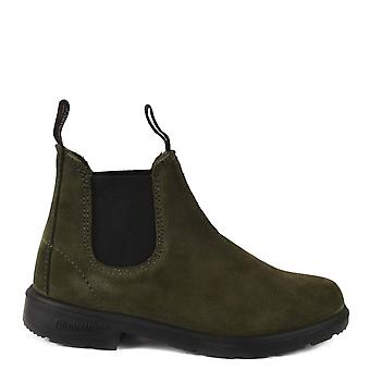Blundstone Kids 1642 Forest Green Suede Boots