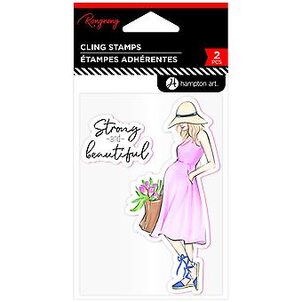 Hampton Art Strong & Beautiful Rubber Stamps